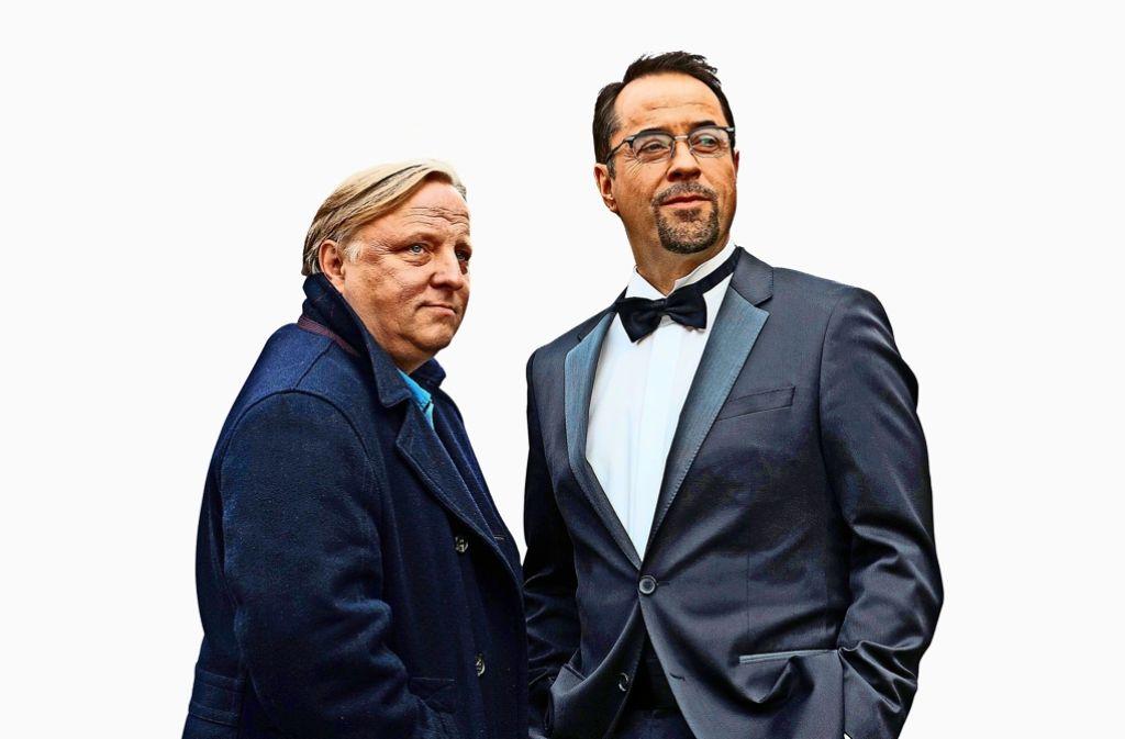 Axel Prahl und Jan Josef Liefers (rechts) gehören zu den Besserver-dienern – zu Recht. Foto: dpa