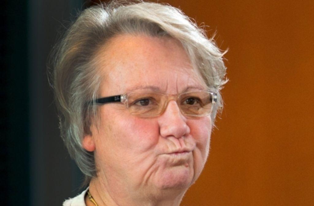Annette Schavan muss um ihren Doktortitel fürchten. Foto: dpa