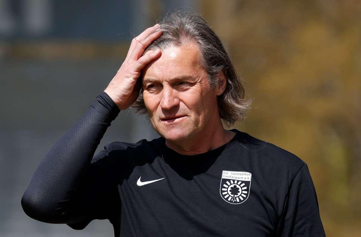 Nicht mehr Coach der SG Sonnenhof Großaspach: Walter Thomae Foto: Baumann