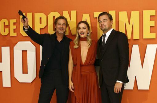 Die Sonnenbrillen durften bei Pitt und DiCaprio nicht fehlen