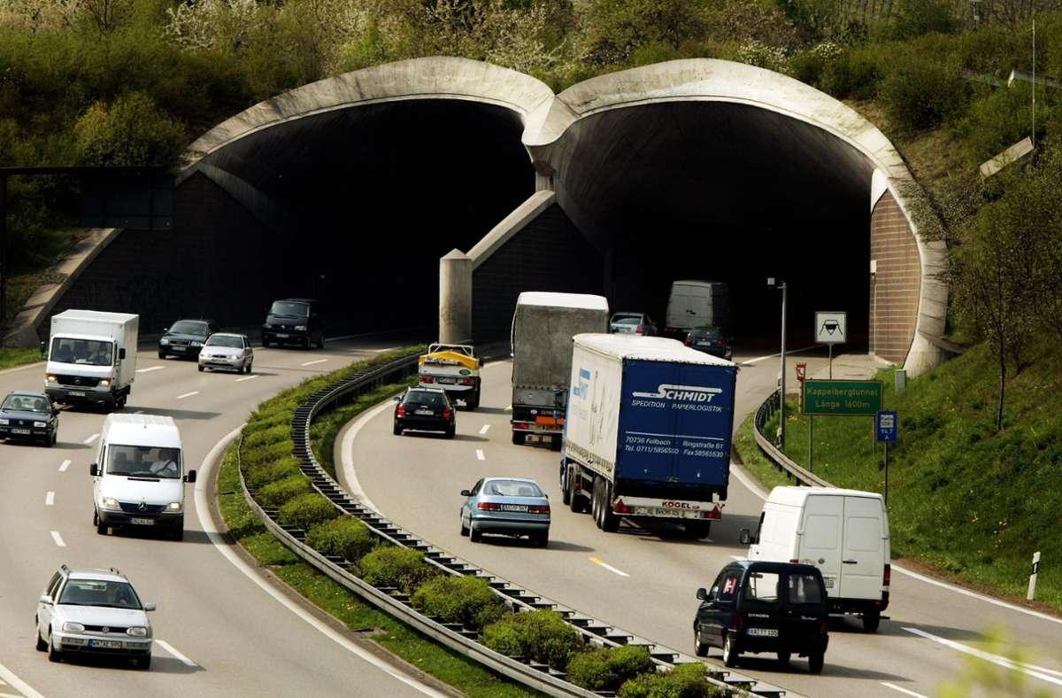 Im Kappelbergtunnel darf derzeit nur langsam gefahren werden (Archivbild). Foto: Stoppel