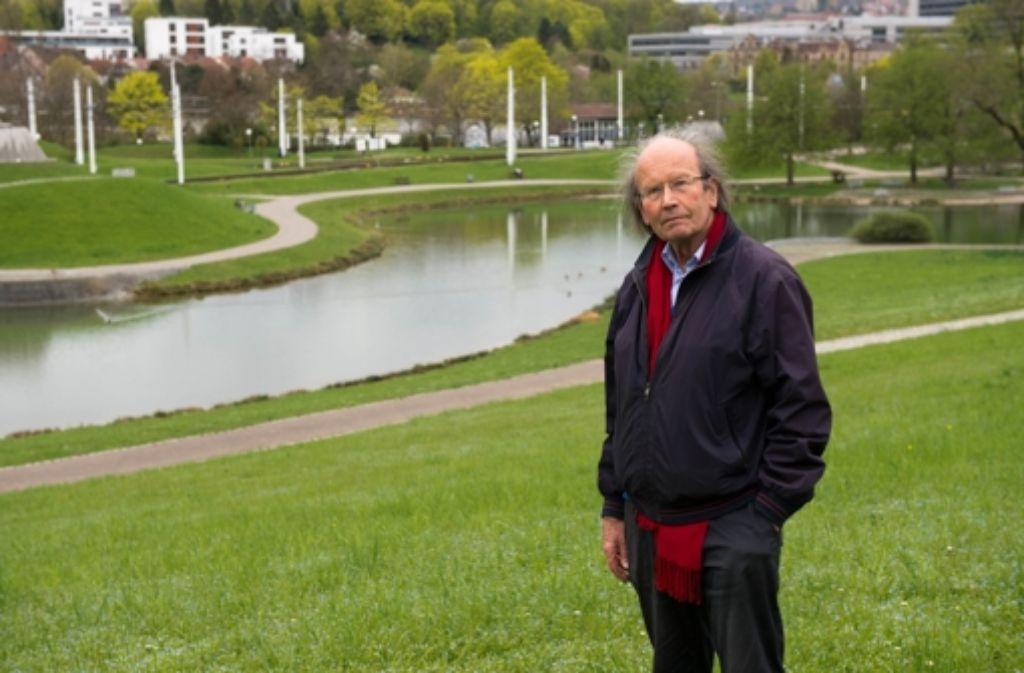 Roland Ostertag will den Unteren Schlossgarten in ein Mündungsdelta verwandeln. Foto: Martin Stollberg