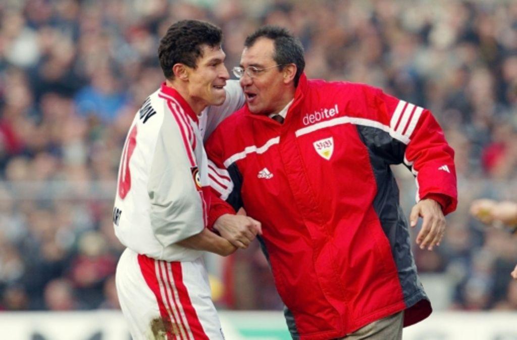 Haben den VfB 2002 auf Platz acht geführt: Balakov und Magath. Foto: Baumann