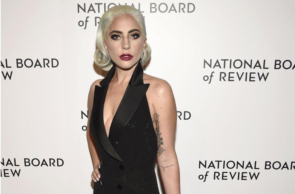 "Lady Gaga nahm bei den National Board of Review Awards in New York den Award als ""Beste Hauptdarstellerin"" entgegen. Foto: AP"