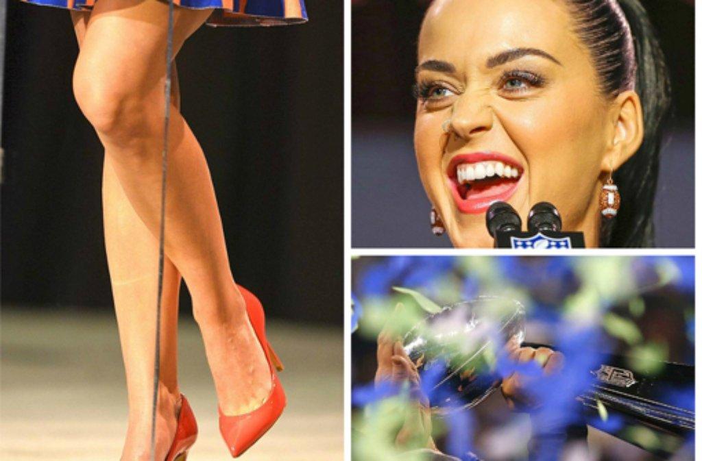 Katy Perry zeigt sich vor dem Super Bowl von ihrer sexy Seite.  Foto: SIR/dpa
