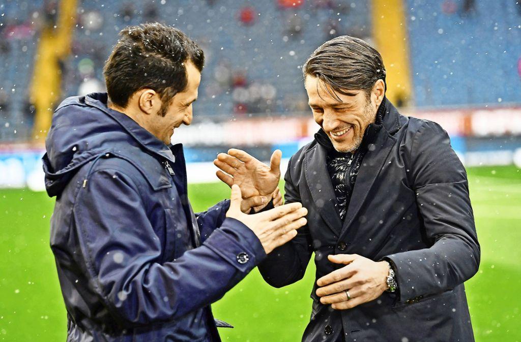 Alte Freunde: Bayern-Sportdirektor Hasan Salihamidzic (links) und der neue Bayern-Trainer Niko Kovac. Foto: dpa
