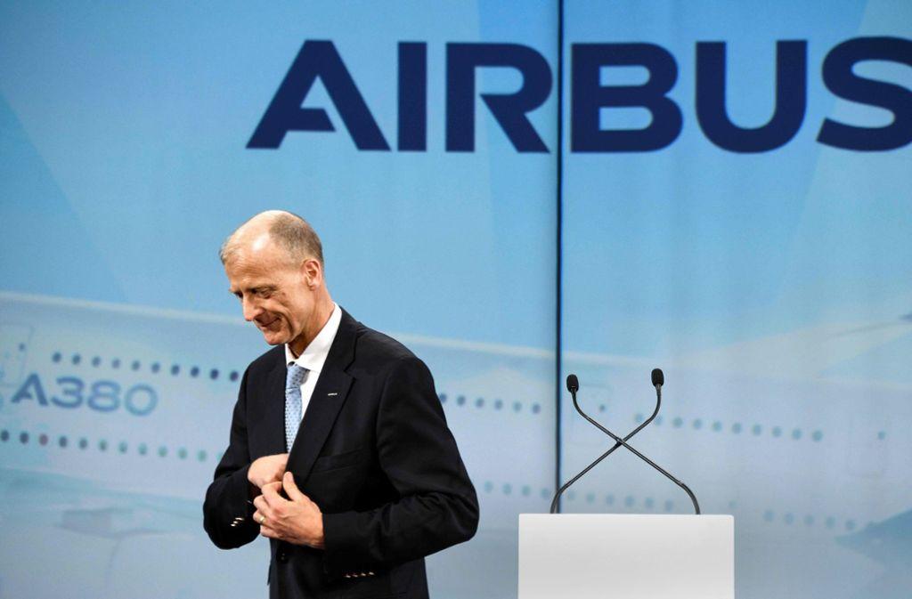 Der scheidende Airbus-Chef Tom Enders hat mit seiner sehr hohen Abfindungssumme einen Sturm der Entrüstung ausgelöst. Foto: AFP