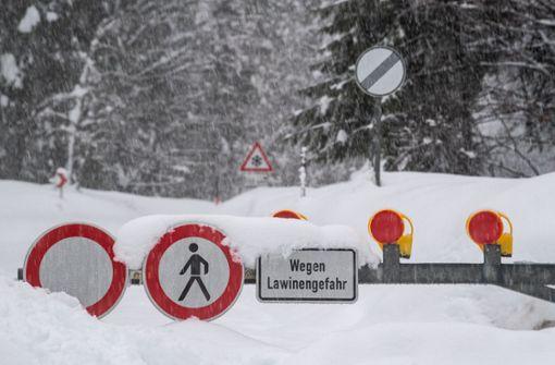 Warnung vor Lawinen in den Alpen