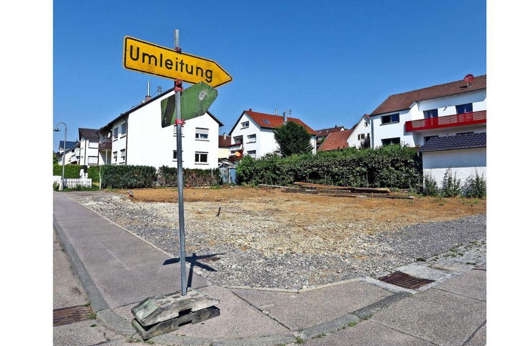 In der Talstraße baut die Wohnbau Weissach derzeit sozialen Wohnraum. Foto: factum/Granville