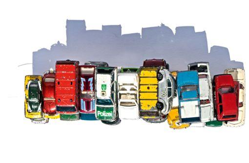 Alte Spielzeugautos in Szene gesetzt: Schrottperlen der Kindheit