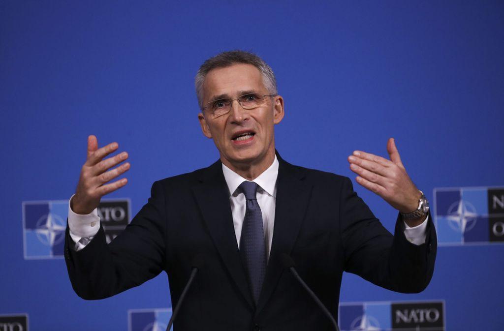 Nato-Generalsekretär Jens Stoltenberg äußert sich zum Konzept. Foto: dpa/Francisco Seco