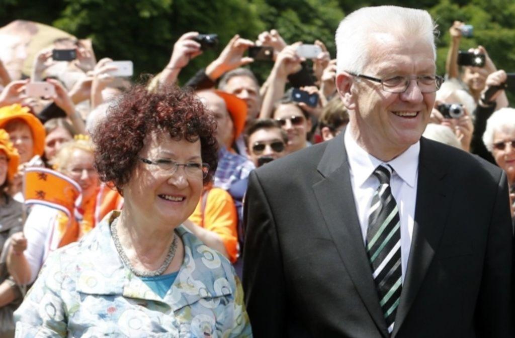 Gerlinde Kretschmann soll nach dem Willen von Rüdiger Grube Patin für den Fildertunnel werden. Foto: AP