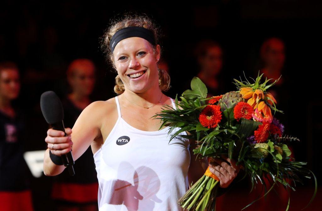 Laura Siegemund träumt nach ihrer sensationellen Woche nun von Olympia. Foto: Pressefoto Baumann