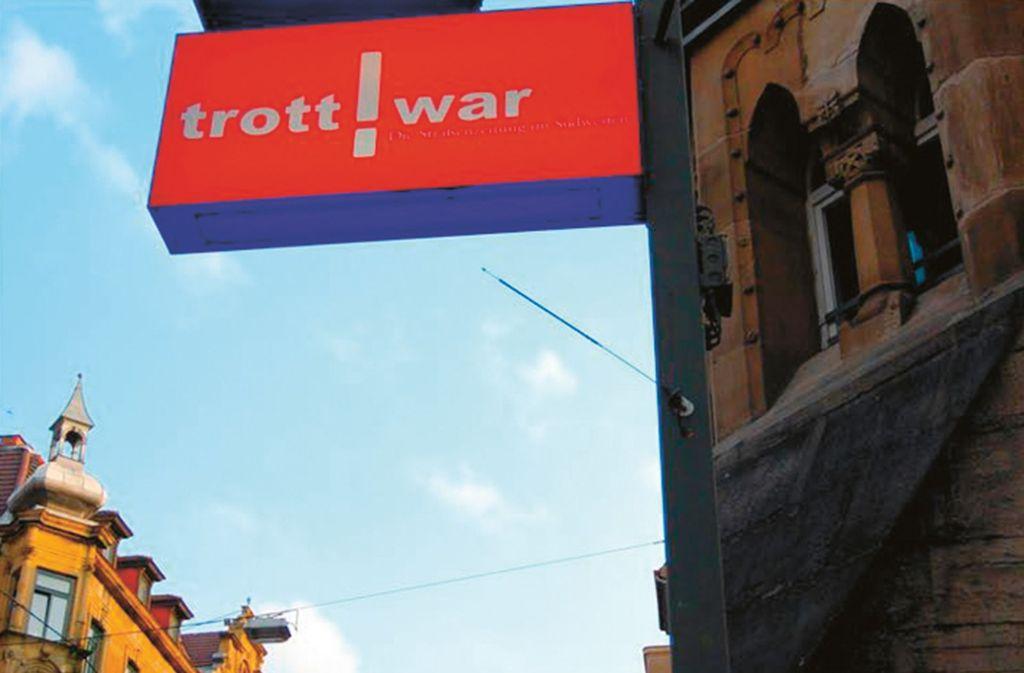 """Die Straßenzeitung """"Trott-war"""" wird in mehr als 20 württembergischen Städten verkauft. Foto: Trott-War/Trott-War"""