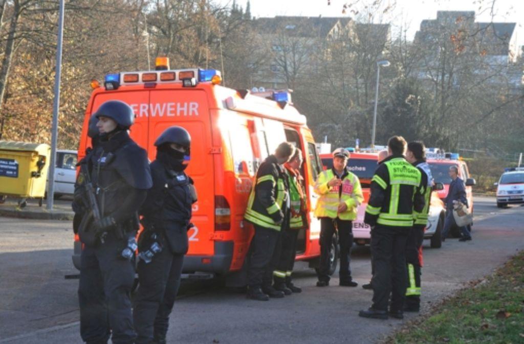 Polizeieinsatz nach einer Bombendrohung im Dezember an zwei  Schulen im Stuttgarter Norden Foto: 7aktuell.de/Adomat