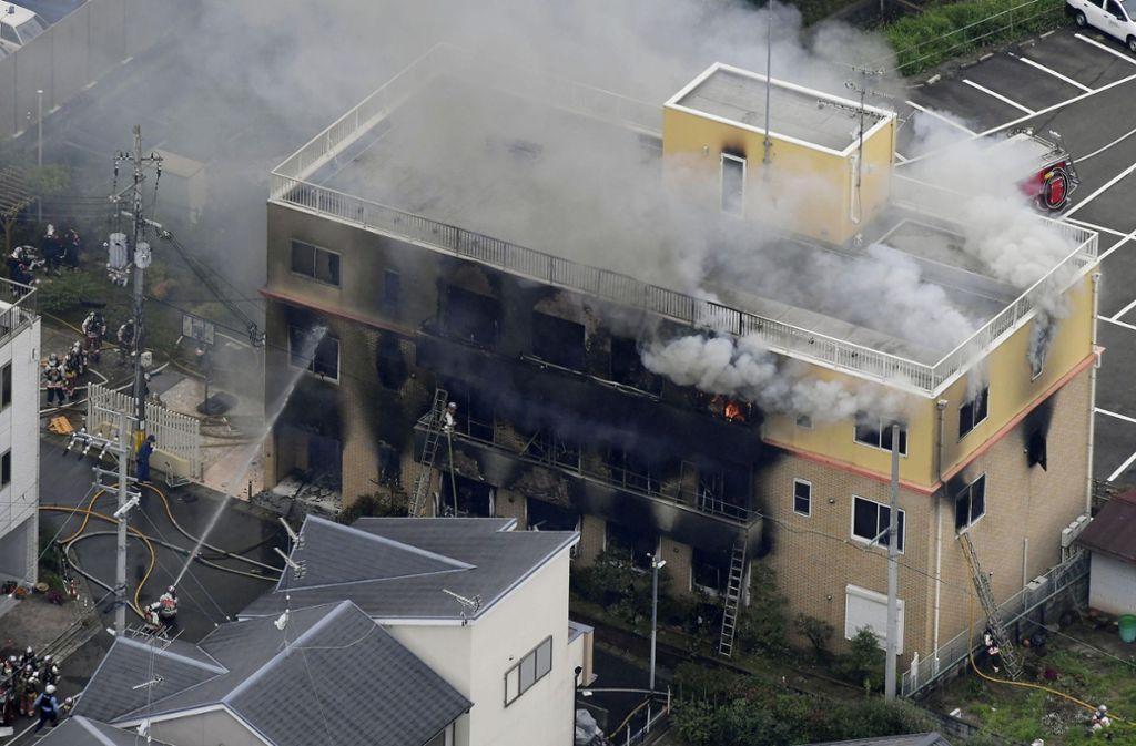 Mindestens 13 Menschen sind in Kyoto bei einem Brand ums Leben gekommen. Foto: AP