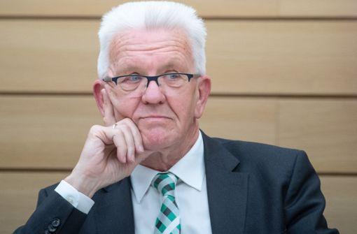 Winfried Kretschmann gerät unter Druck