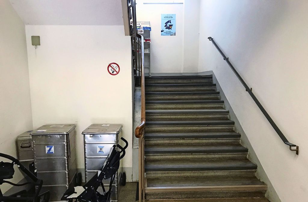 Steile Treppen und kein Aufzug: das Ludwigsburger Standesamt an der Oberen Marktstraße. Foto: Stadt Ludwigsburg