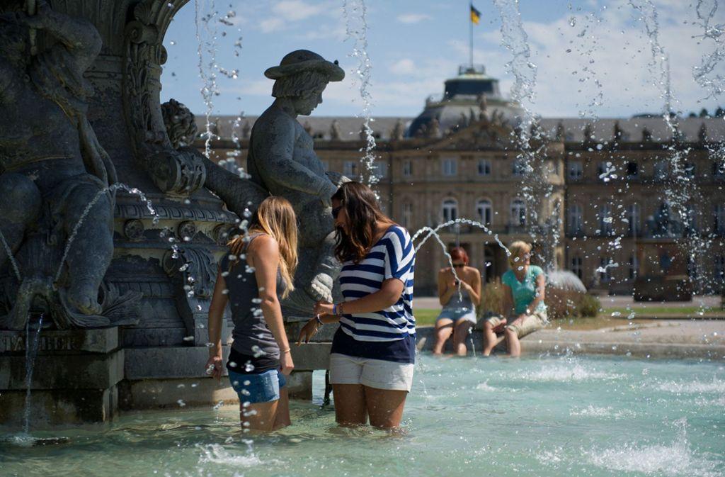 Auch in Stuttgart wird es in der kommenden Woche richtig heiß. (Archivbild) Foto: dpa