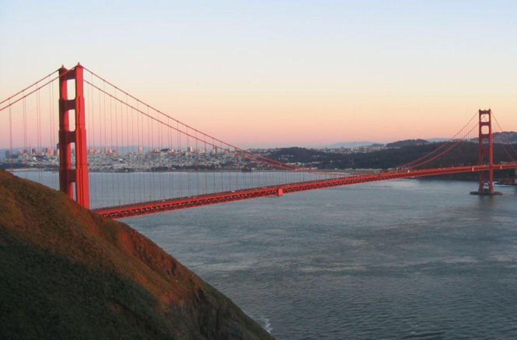 Die Golden-Gate-Brücke von Nordwesten. Foto: Dirk Beyer/CC BY-SA 3.0
