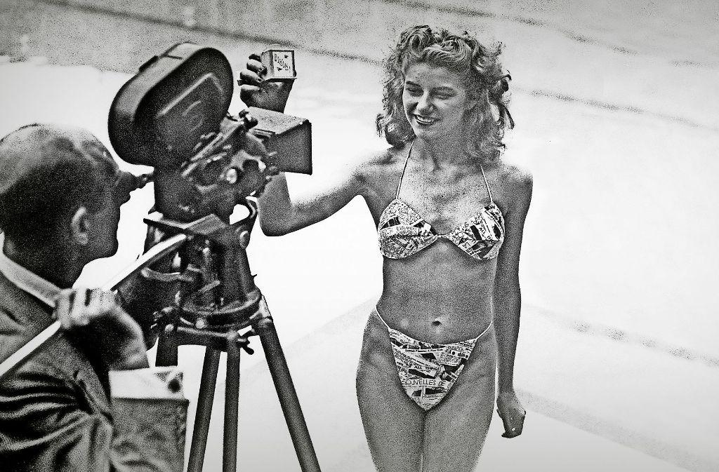 Micheline Bernardini  präsentierte am 5. Juli 1946 in  Paris den ersten Bikini, den der französische Ingenieur Louis Reard entwickelt hatte. Damals war das ein Skandal. Foto: