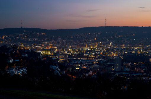 Lichter am Stuttgarter Nachthimmel