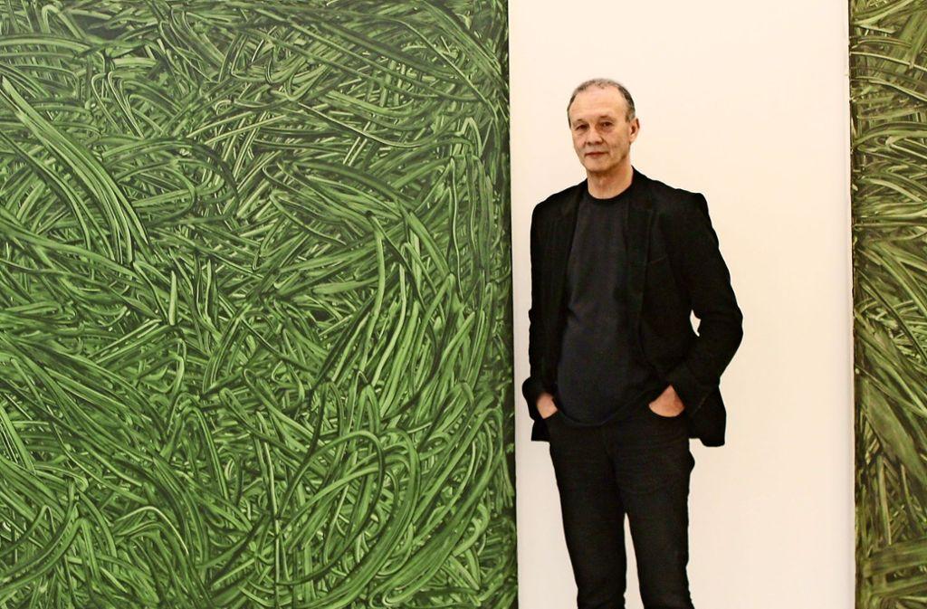 Das Gewirr auf Hörls Gemälden lässt an Pflanzen denken und steht zugleich für das Lebensgefühl des 21. Jahrhunderts, das von Überforderung und Chaos geprägt ist. Foto: Sabine Schwieder