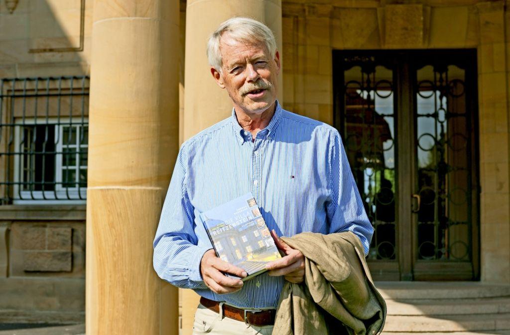 Thomas Borgmann will auch Stefan Mappus ein Buch vorbeibringen. Foto: Lg/Willikonsky