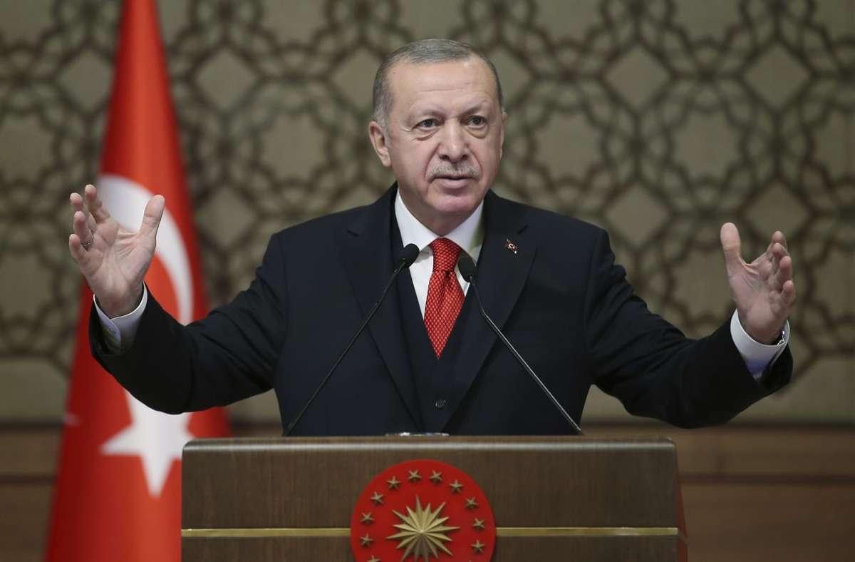 Recep Tayyip Erdogan hat Joe Biden zum Wahlsieg gratuliert. Foto: AP