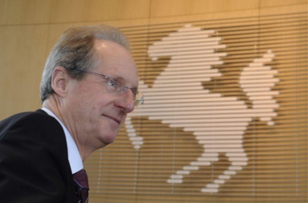 Der scheidende Oberbürgermeister Stuttgarts, Wolfgang Schuster, Foto: dapd