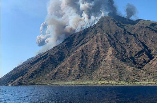 Explosionen im italienischen Vulkan Stromboli