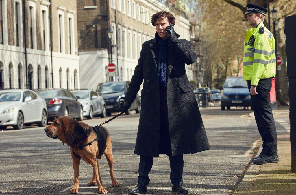 Eine bessere Nase als jeder Hund: Benedict Cumberbatch als Sherlock Foto: ARD