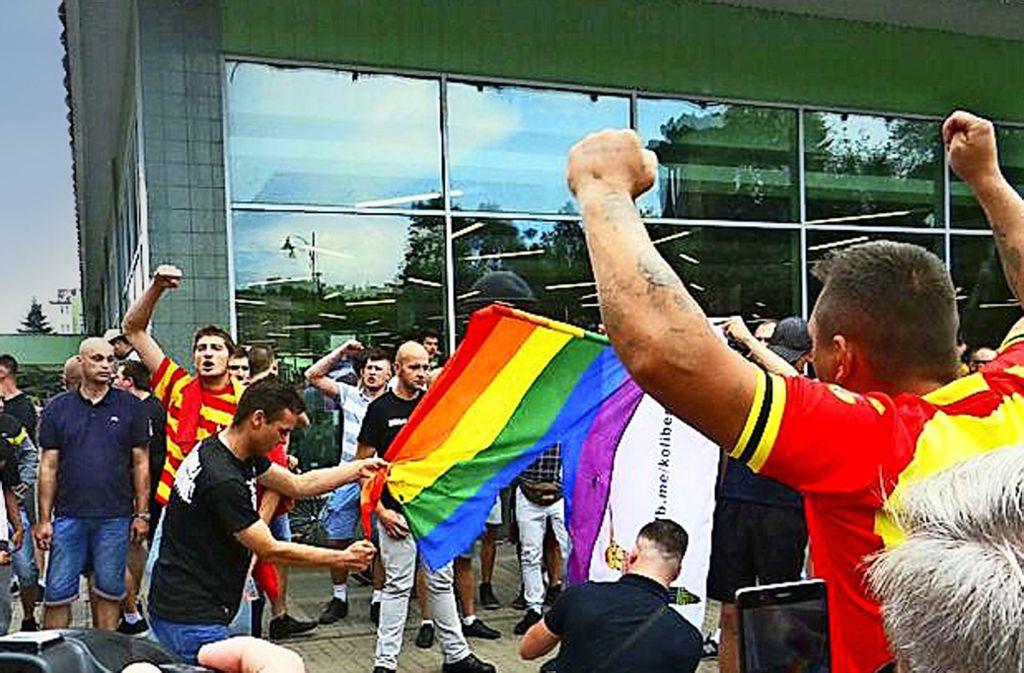 Am Rande der Gay-Parade in Bialystok tobten rechte Hooligans. Foto: StZ