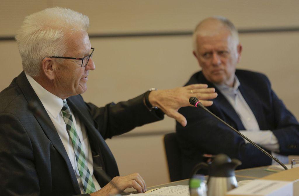 Ministerpräsident sprach am Mittwoch mit Stuttgarter Gemeinderäten. Foto: Leif Piechowski