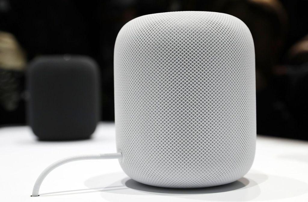 Apples HomePod ist seit einigen Tagen in den USA, Australien und Großbritannien im Handel. Foto: AP