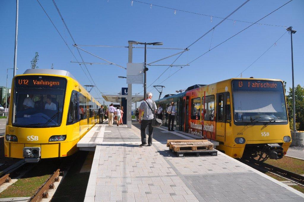 Sichtbarste Veränderung bei der SSB in Stuttgart: Die neuen Stadtbahnen DT 8.12 gehen auf die Strecke. Foto: Andreas Rosar Fotoagentur-Stuttgart