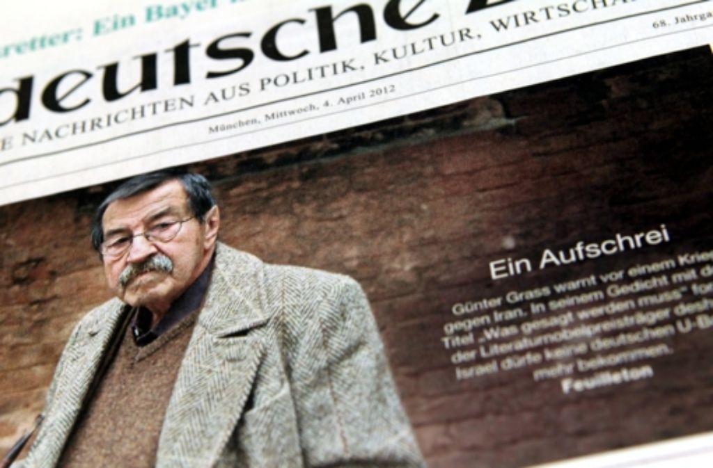 Günter Grass sorgt für Aufsehen. Foto: dpa