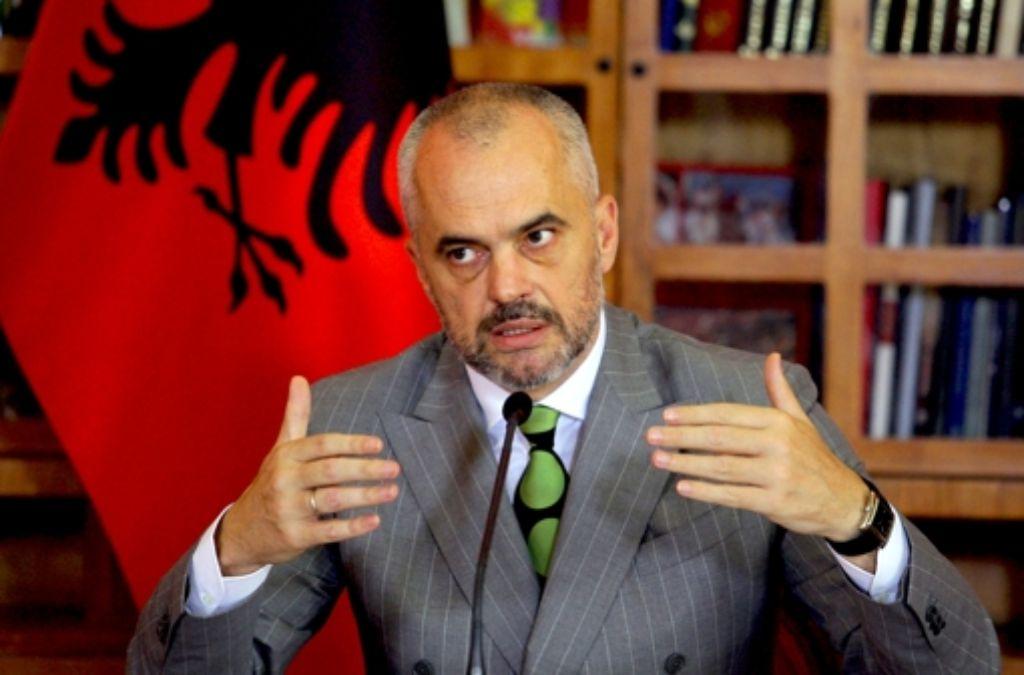 Bundeskanzlerin Angela Merkel schätzt  Albaniens Premier Edi Rama. Foto: