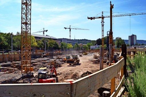 Das Fundament fürs neue Quartier steht