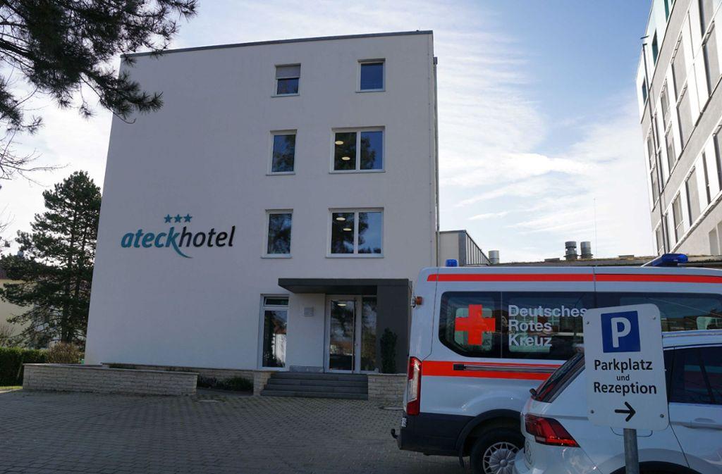 Im Ateck-Hotel in Kirchheim  ist man auf die Ankunft der Quarantäne-Patienten vorbereitet. Foto: SDMG/Kohls