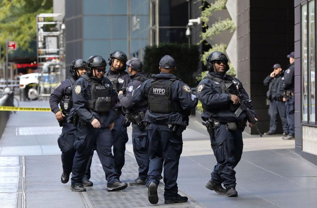 Auch das Bürogebäude des Senders CNN wurde evakuiert. Foto: AP
