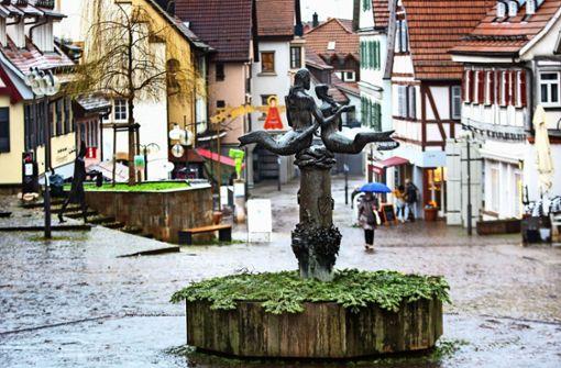 Neckar und Fils als Brunnenfiguren