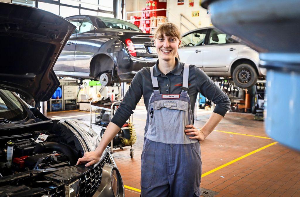 """Tanja Basel hat """"keine Angst, dass das Auto verschwindet"""". Foto: factum/Simon Granville"""