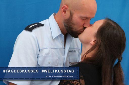 Ulmer Polizei zeigt sich romantisch
