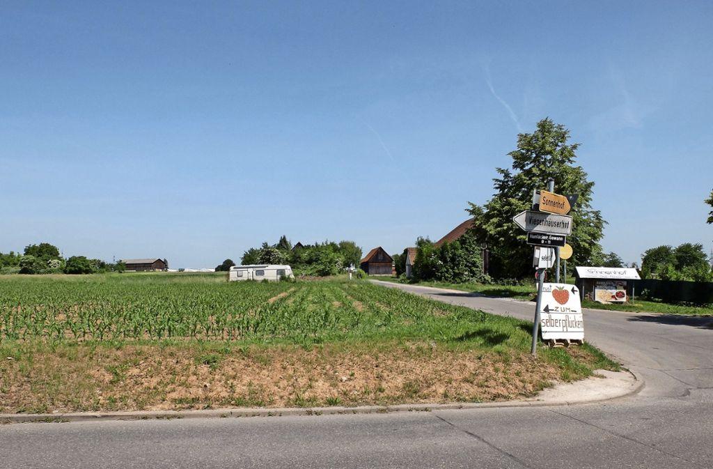 Auf dieser Fläche  ist Wohnungsbau geplant. Die Anwohner fordern zur Entlastung eine Umgehungsstraße. Foto: Iris Frey