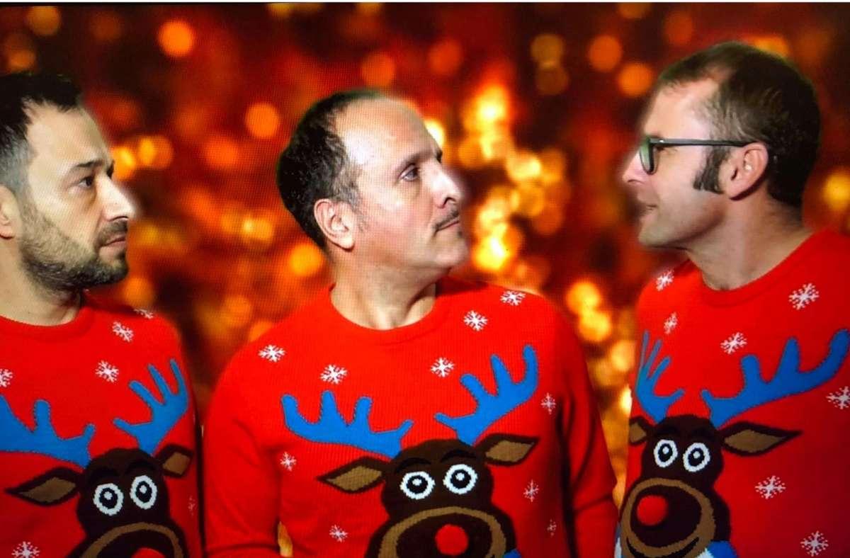 """Das Stuttgarter Comedy-Trio Eure Mütter im Video """"Weihnachten in der Schweiz"""", das in unserem Nachbarland gerade  viral abgeht Foto: Redaktion"""