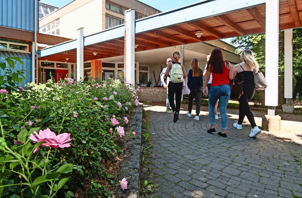 Bei der Würmtalschule in Merklingen Foto: factum/Bach