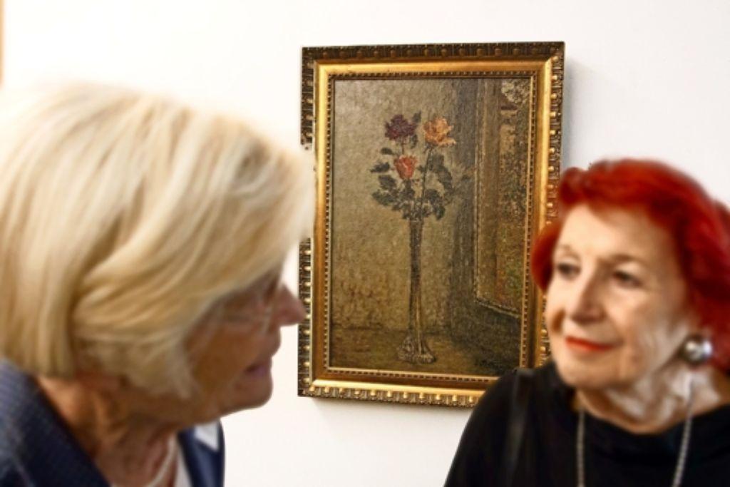 Eine Besonderheit des Malers Eugen Stammbach ist der  getupfte Malstil. Foto: Christian Hass