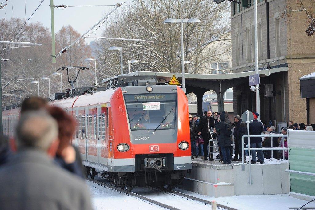 Eindrücke von der Einweihung der S-Bahn-Linien S4 und S 60 sehen Sie in der folgenden Bilderstrecke. Foto: www.7aktuell.de/Oskar Eyb