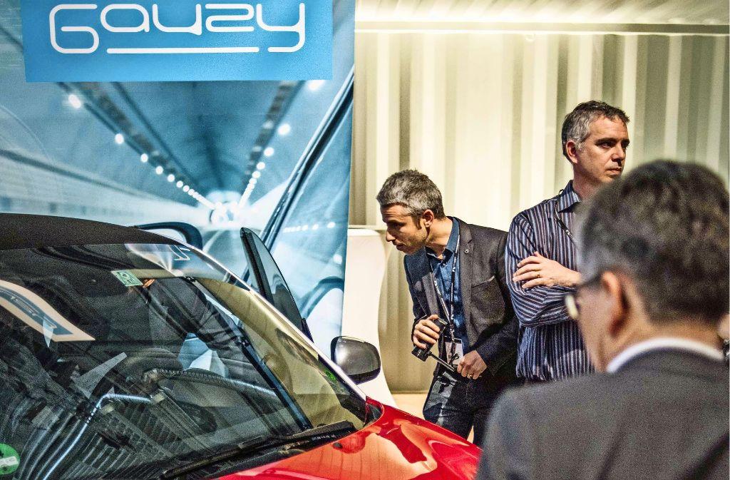 An den Ständen der Start-ups ging es um die Zukunft der Mobilität.Foto:Lg/Max Kovalenko Foto: